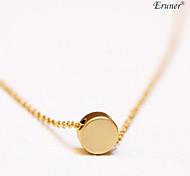 Euner® Fashion Simple Horizontal Circle Clavicle Necklace