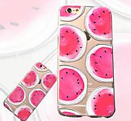 Small fresh Watermelon Pattern Slim Acrylic and TPU Combo Phone Case for iPhone 6