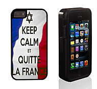 Keep Calm Et Quite La France Design 2 in 1 Hybrid Armor Full-Body Dual Layer Shock-Protector Slim Case for iPhone 5/5S