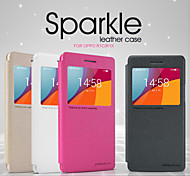 NILLKIN Sparkle Series Flip Ultra-thin PU Leather Cover Shell for OPPO R1C