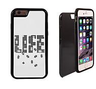 Puzzle des Lebens Muster 2 in 1-Hybrid Rüstung Ganzkörper-Dual-Layer-Schock-Schutz schlanke Fall für iPhone 6