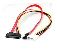 22 Pin Sata Power Data to 4-Pin IDE Molex & Sata Port Connector Cable