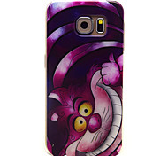 Cheshire Cat patroon TPU soft Cover Case voor Samsung Galaxy s6