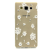 For Samsung Galaxy Case Rhinestone / Transparent / Pattern Case Back Cover Case Dandelion TPU Samsung A5