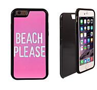 Playa favor diseñar 2 en 1 armadura híbrido de cuerpo completo de doble capa golpes protector de caja delgada para el iphone 6 más