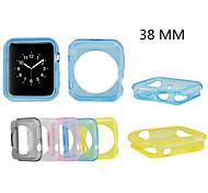 étui transparent cadre de TPU pour Apple iwatch 38mm