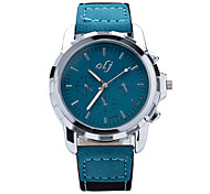 2015 New Brand Designer Fashion Male Table Quartz Watch Dial Simple and Elegant High-Quality PU Strap Men's Watch Wrist Watch Cool Watch Unique Watch