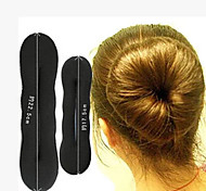 22.5cm and 17.5cm Magic Sponge Clip Donut Bun Hair Stylers (One Set)