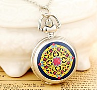 Ladies' Pocket Watch with Women Necklace Small Steampunk Quartz Analog