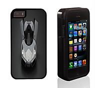diseño fresco del coche 2 en 1 armadura híbrido de cuerpo completo de doble capa golpes protector de caja delgada para el iphone 5 / 5s