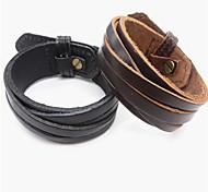 Fashion Leather Bangle(1Pc)