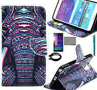 COCO FUN® Love Lamp Pattern PU Leather Case with Film and USB Cable and Stylus for Samsung Galaxy Note 4