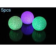 5pcs morsen® 1W rgb kleuren kristallen bol lamp nachtlampje