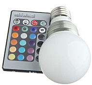 E27 3W RGB Led Bulb Light with Remote Controller (AC 100-220V) 400LM