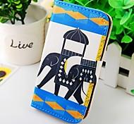 der Elefant PU Ledertasche für Samsung Galaxy S2 i9100