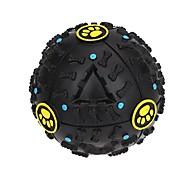 Fantastic Black Bone Pattern Pet Dog Squeak Toys / Hard Treat Balls / Feeding Ball