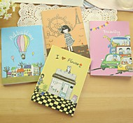 Cute Creative Illustrations Cover Notebook (Random Color)