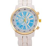 Women's Round Dial Case Plastic Watch Brand Fashion Quartz Watch