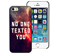 No One Texted You Design Aluminum Hard Case for iPhone 5/5S