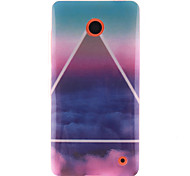 The Sky Cloud Pattern TPU Soft Case for Nokia N630