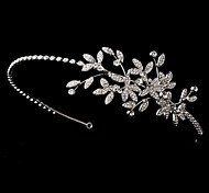 Bridal Crown Silver Tiara Queen Leaf Butterfly Crystal/Diamond Pearls Flower Hairclips Headpiece For Wedding/Party