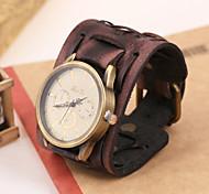 accesorios de la joyería de los hombres reloj de pulsera de cuero de cuero de personalidad mesa mesa de pulsera de la vendimia