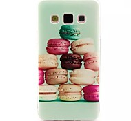 Hamburger Pattern TPU Soft Cover for Samsung Galaxy A7