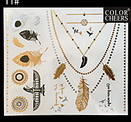 1Pc Long Bracelet And Necklace Waterproof Tattoo Sticker  24x21CM