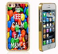 mantenere la calma e mangiare m&di m bling design di lusso ibrido scintillio scintilla con la cassa di strass di cristallo per iphone