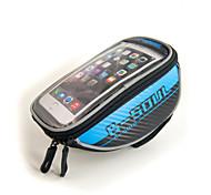 "Waterproof Bicycle Handlebar Bag for 4.8"" Cellphones"