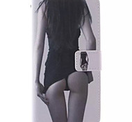 For Samsung Galaxy Case Card Holder / with Stand / Flip / Pattern / Magnetic Case Full Body Case Sexy Lady PU Leather Samsung A5