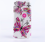 Butterfly Pattern Embossed Painted Thin Transparent TPU Material Mobile Shell for HTC M8