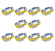 9pin VGA Male to VGA Female Mini Gender Changer Adapters (10 PCS)