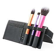 New 3in1 Top Grade Professional Makeup Brush Set/Kit 3 Brushes Travel Essentials (Deep pink +Purple+Golden)