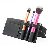 nova 3in1 alto grau de maquiagem profissional jogo de escova / kit de 3 escovas essenciais (rosa escuro + roxo + ouro) viajar