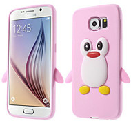 3D Penguin Silicon Soft Case for Samsung Galaxy S6