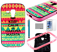 COCO FUN® Calm Tribe Pattern Soft TPU Back Case with Screen Protector and Stylus for Samsung Galaxy Trend Duos S7562