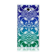 Gradual Change Lace Flowers Pattern TPU Soft Back Cover Case for Sony Xperia M2