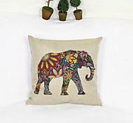 Cubierta creativa del estilo del elefante cojín decoración sofá almohada en casa (17 * 17 pulgadas)