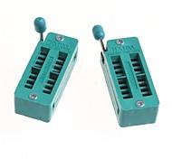 16P 16P Locking Seat 16PIC Live Test Seat Seat IC Socket (2Pcs)