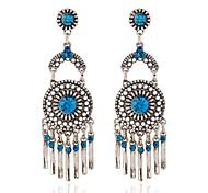 Women's Party Rhinestone/Resin Tassel Drop Earrings