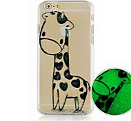 The Deer Pattern Luminous Hard Back Cover Case for iPhone6