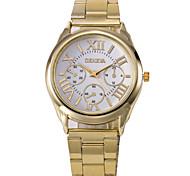 caso mostrador redondo relógio da liga relógio marca de moda masculina de quartzo (mais cores disponíveis)