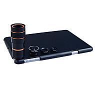 apexel 4 in 1 Objektiv-Kit 8x Teleobjektiv + Weitwinkel + Makroobjektiv + Fisheye-Objektiv mit zurück umkleiden für ipad mini 1/2/3