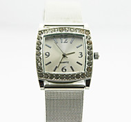 Women's Analog Alloy Case Square Dial Stainless Steel Band Chinese Quartz Watch Women Business Watch Gift Watch