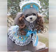 Bandanas e Chapéus - Vermelho/Preto/Azul/Rosa - de Terylene - Casamento/Fantasias - para Cães/Gatos