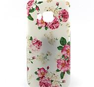 белый низ роза рисунок мягкий чехол для HTC M9 / HTC One M9