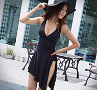 Black Sexy Swimsuit With a Chest Pad Whitout Steel Ring Cover the belly