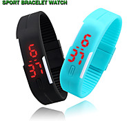 Fashion Unisex LED Watches Candy Color Silicone Rubber Sport Digital Watches Bracelet Wristwatch (Assorted Colors)