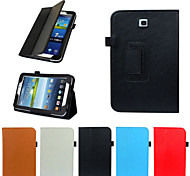 Fashion PU Leather Case Cover Stand For Samsung Galaxy Tab Tab 3 7.0 (T210/T211) Tablet Multi-color